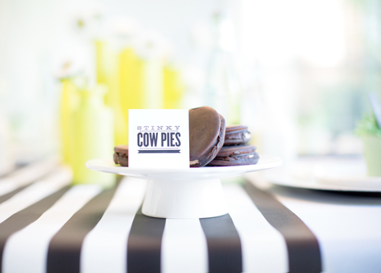 Moon pies as cow pies