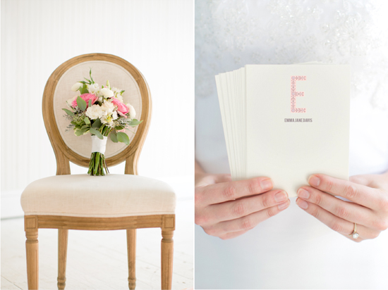 note card and flowers