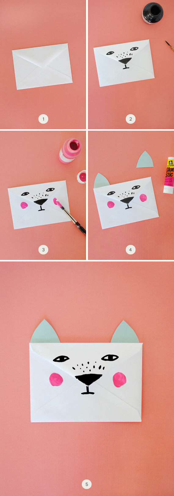 how to make a paper envelope with glue