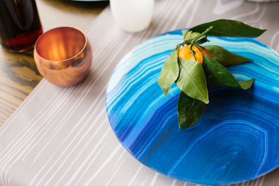 minted cabin dinner agate wrapping paper diy platter