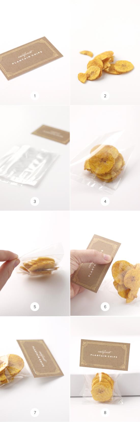 Place card treat bag diy