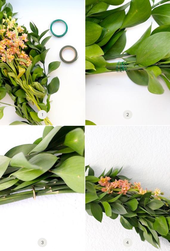 Diy fresh greenery garland julep