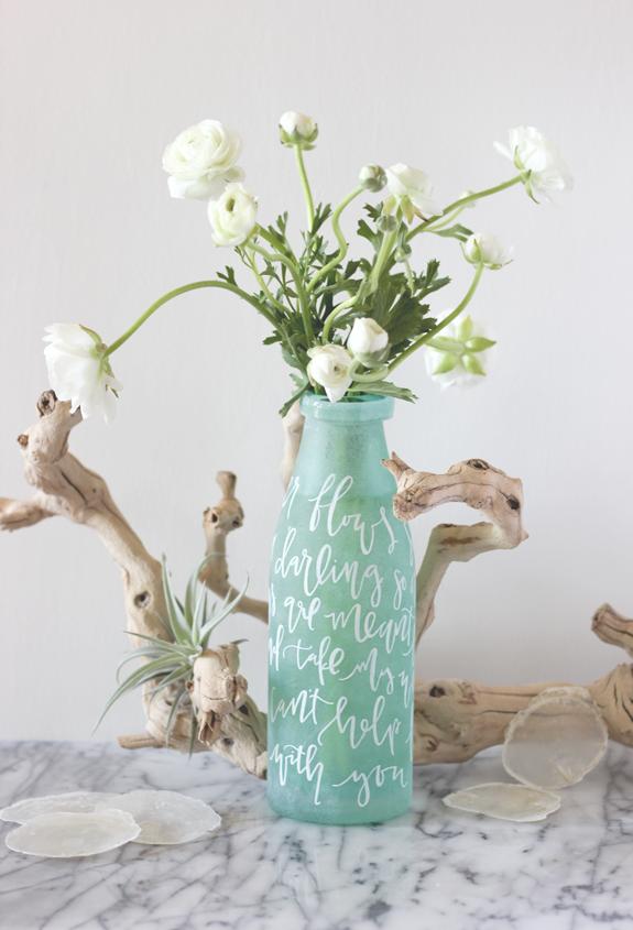 Lettered Vase Centerpiece Diy Julep