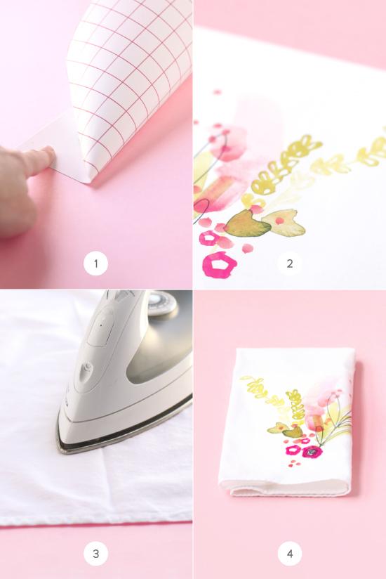 Printable watercolor linen