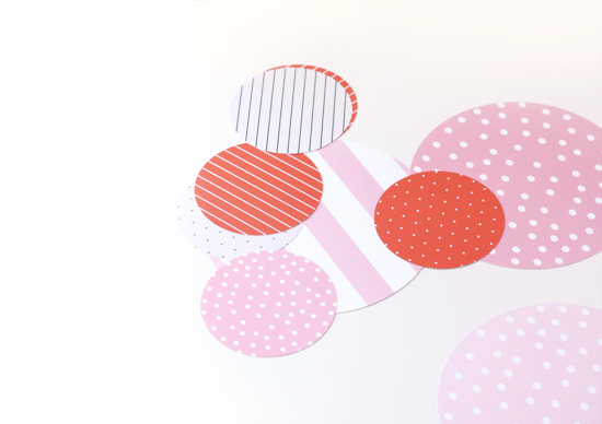 Minted giant confetti to make a simple hand fan