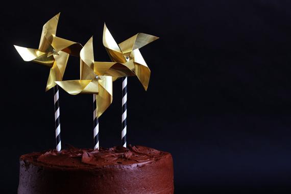 brass cake topper pinwheels
