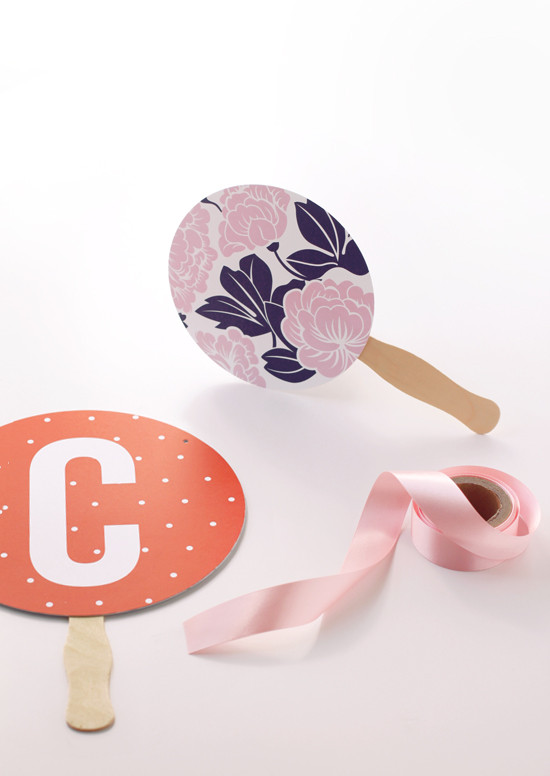 Urban Baby bunting and pretty thaumatrope giant confetti used to make simple summer hand fans