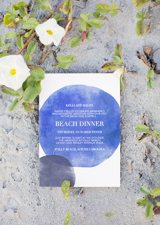 Stacey Day for minted, bohemian beach invite