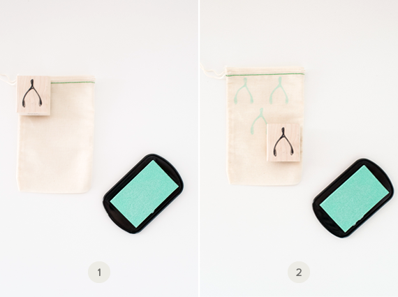 DIY patterned flatware pouches