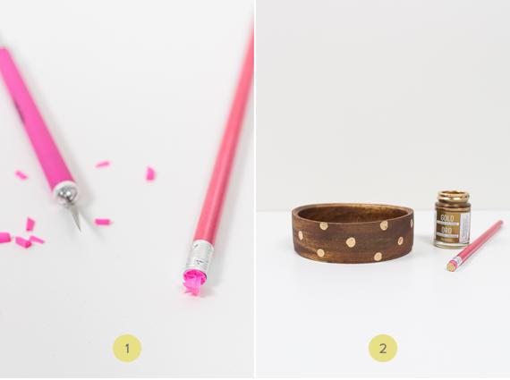 DIY gilded wooden bowl gift set