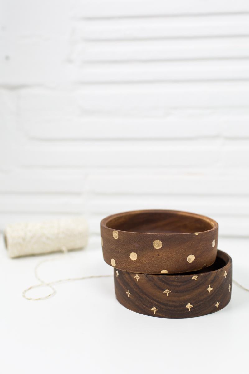 DIY wooden bowl gift set