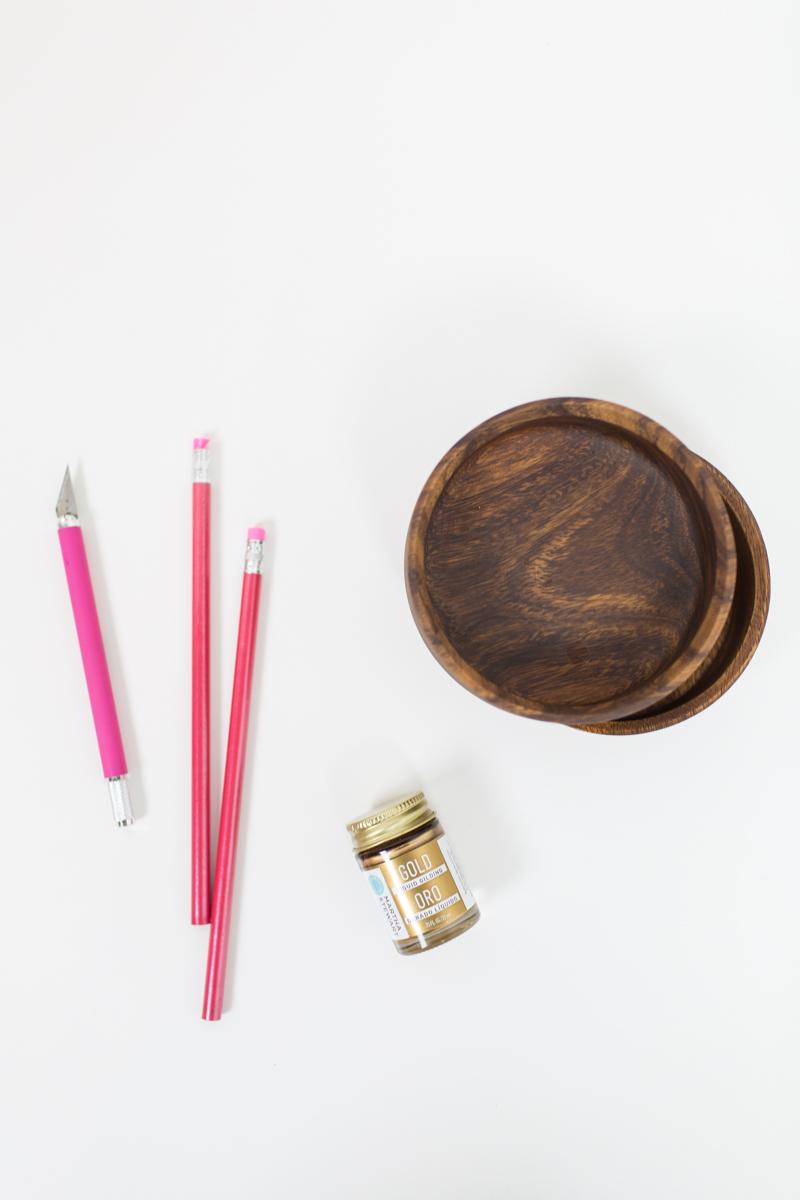 DIY gilded bowl gift set