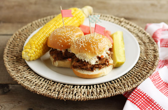 barbecue pork sliders minted