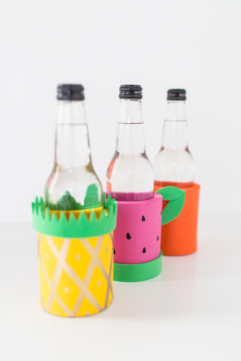 DIY fruit koozies