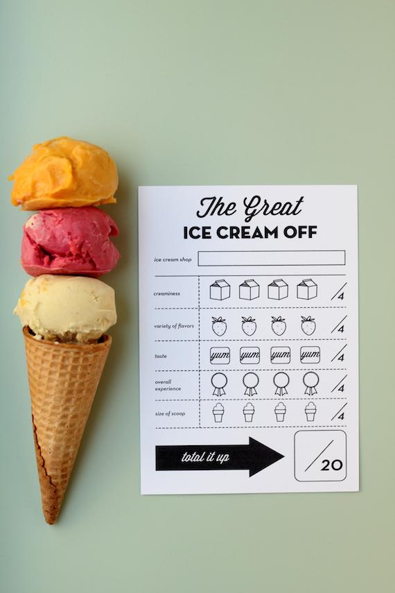 ice cream crawl