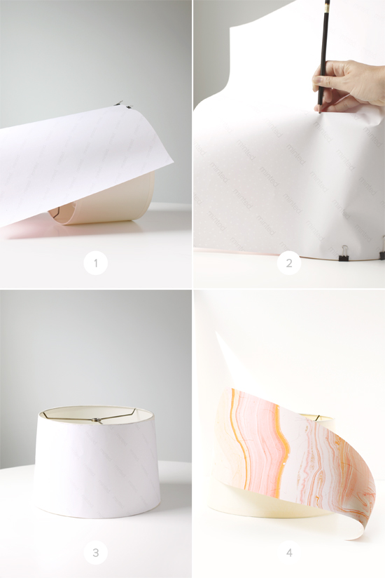 step by step paper wrapped shades