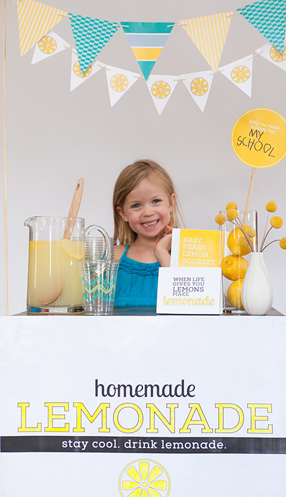kids diy lemonade stand
