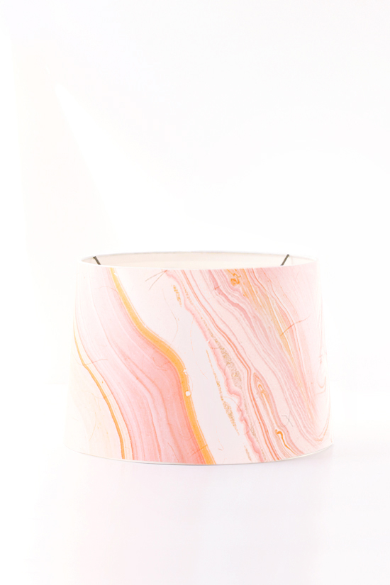 DIY marbled pendant shade by kelli hall