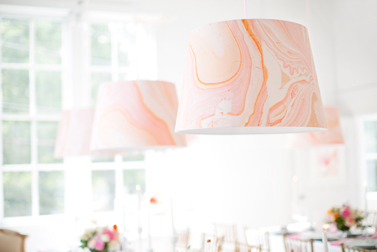 Diy paper lampshades that will brighten up any room julep marbled mint gallery wedding shades by kelli hall aloadofball Choice Image