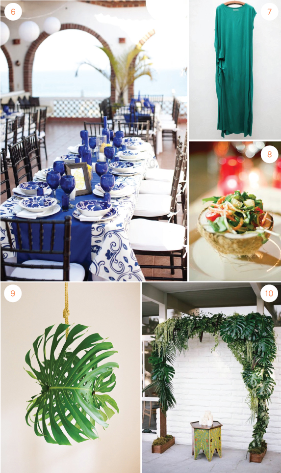 Cobalt and Emerald Wedding
