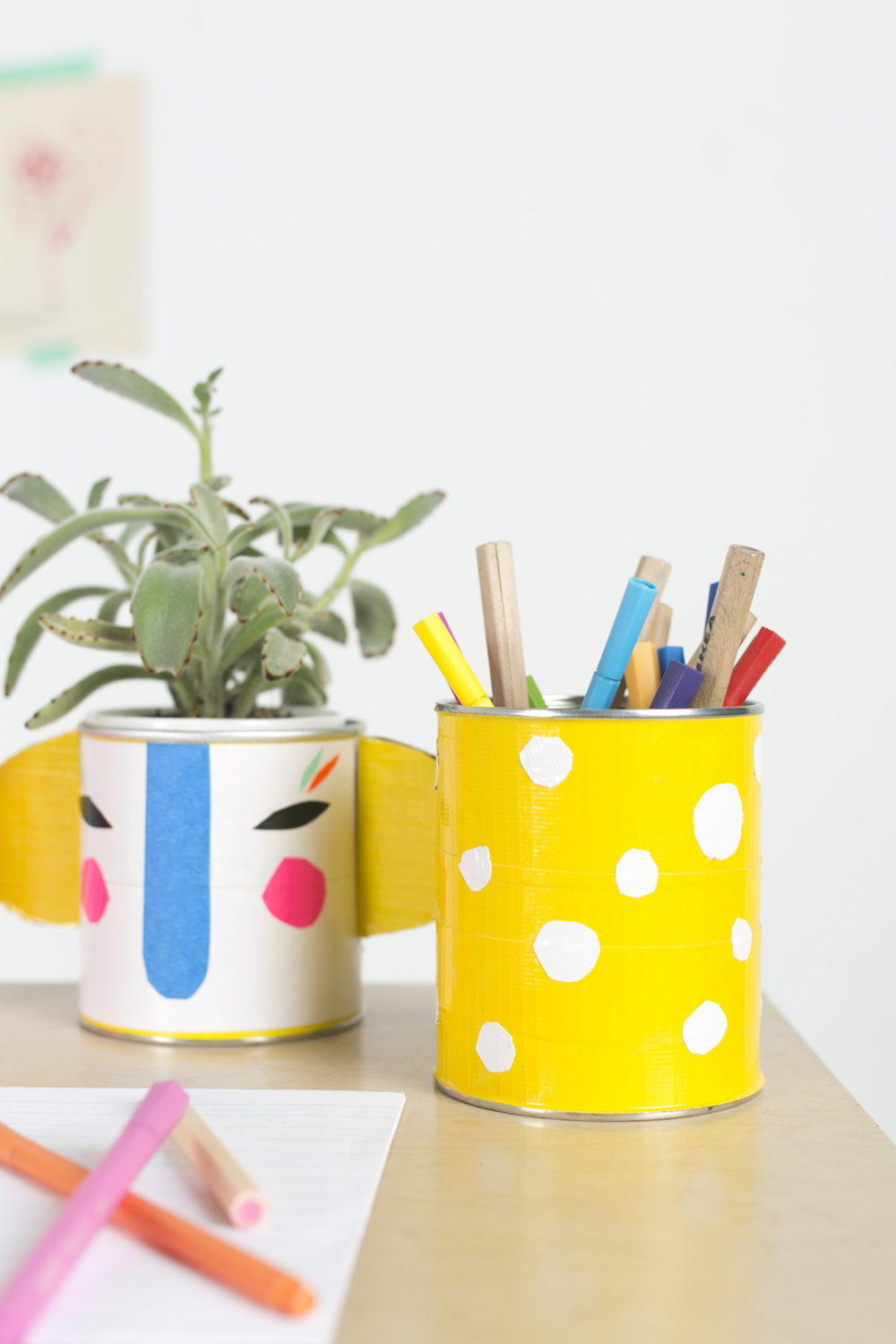 DIY Back-to-School Duct Tape Pencil Holders | Julep