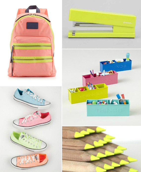 bright and colorful back to school gear