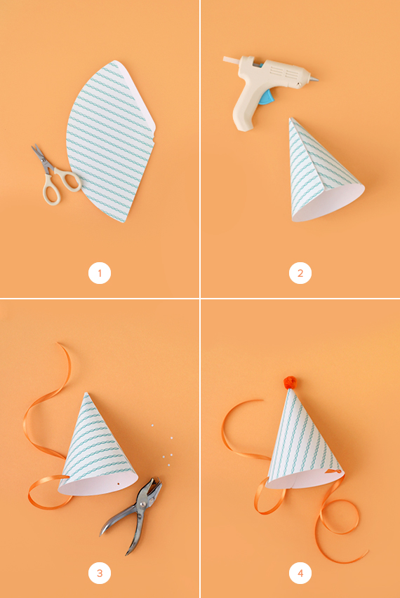 Diy Party Hats (With Printable!) | Julep