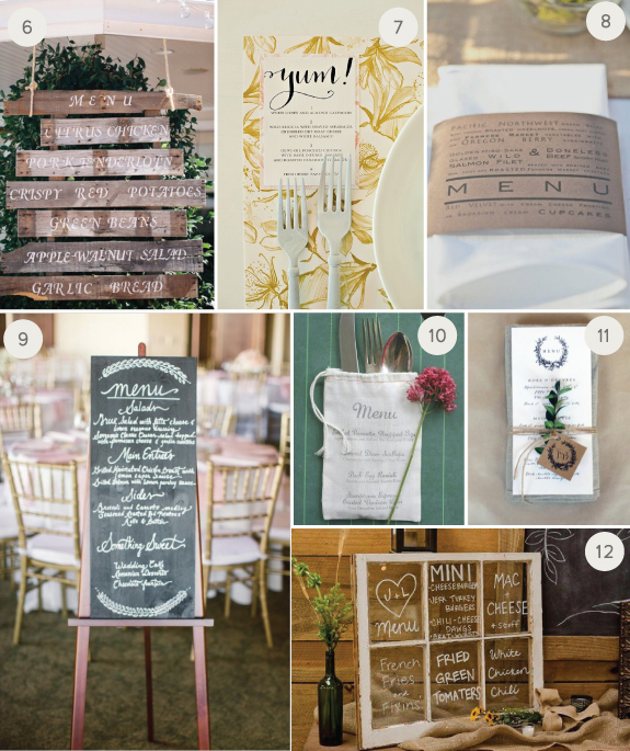 12 Unexpected And Super Creative Wedding Menu Ideas Julep