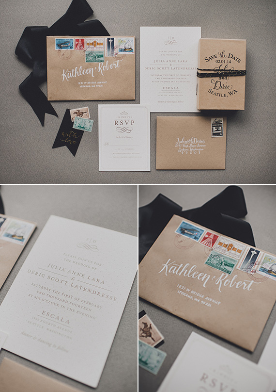Minted Real Wedding Julia Deric in Seattle Julep