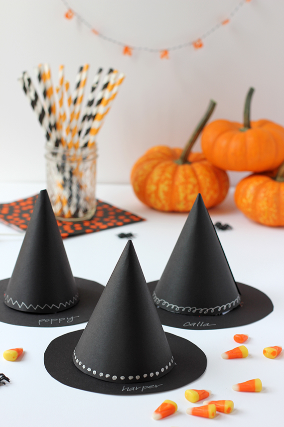 diy witchs hat halloween party favor