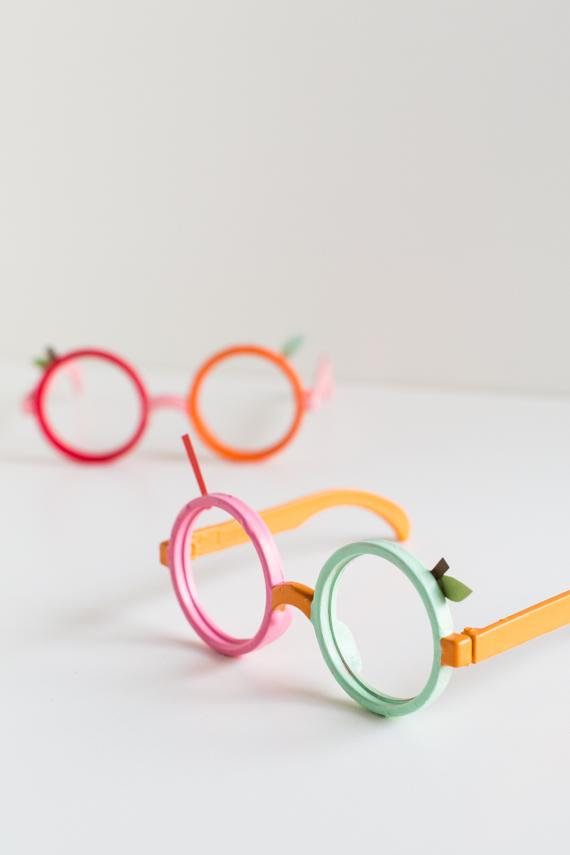 Plastic Glasses Frames Peeling : DIY: ?Fruit Loop? Halloween Glasses Julep