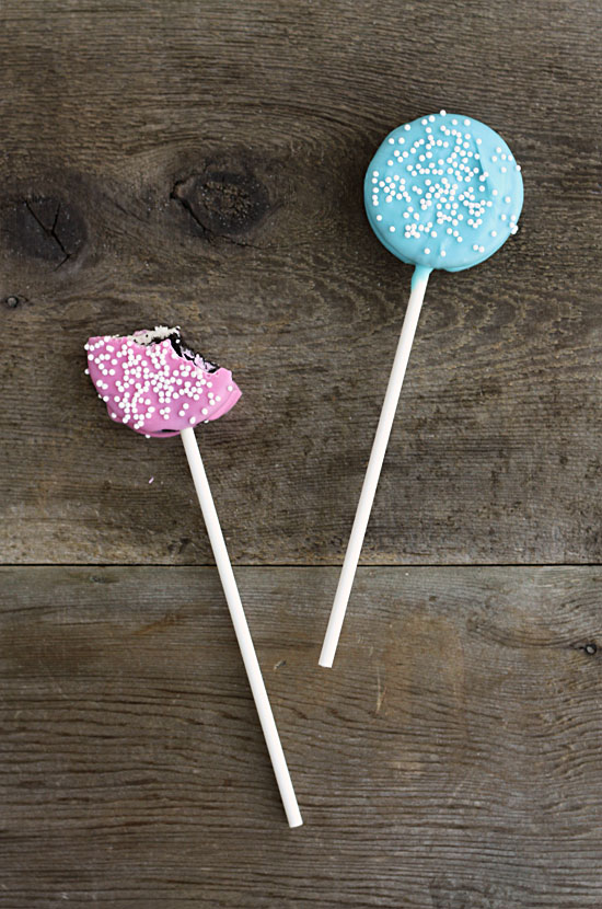 gender reveal baby shower party ideas oreo pops