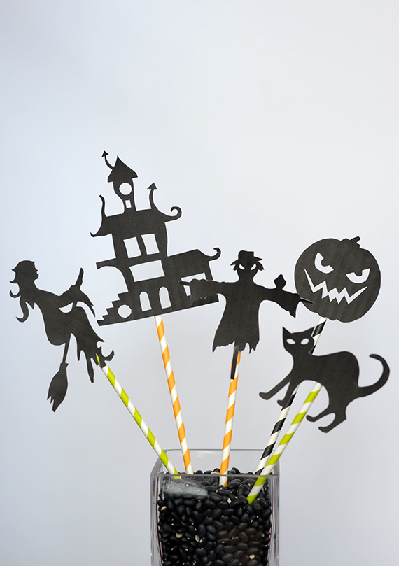 Diy halloween shadow puppets with free template julep for Free shadow puppet templates