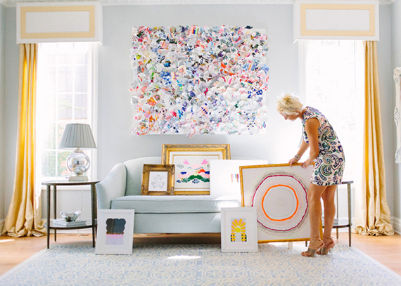 Domino at home with a minted artist kristi kohut julep - An artists home ...