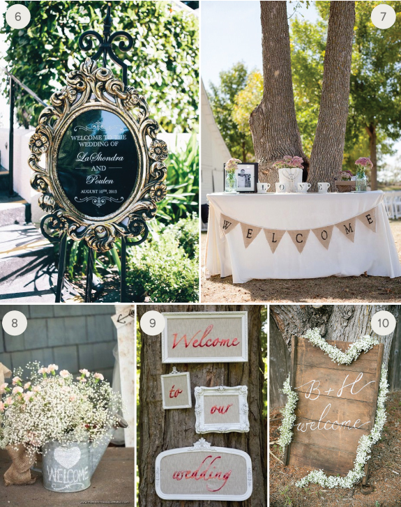 Wedding Inspiration 10 Creative Welcome Signs Julep