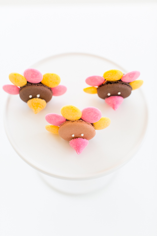 DIY turkey macarons