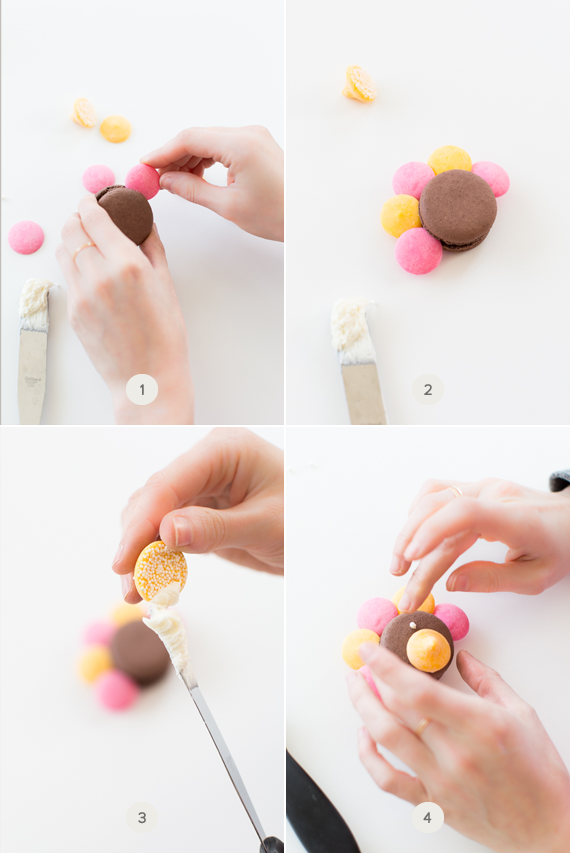 DIY turkey macarons