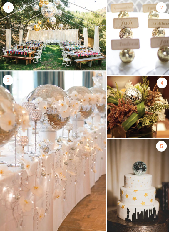Wedding Inspiration DiscoBall Details For A Winter Wedding Julep Interesting Disco Ball Decorations Cheap