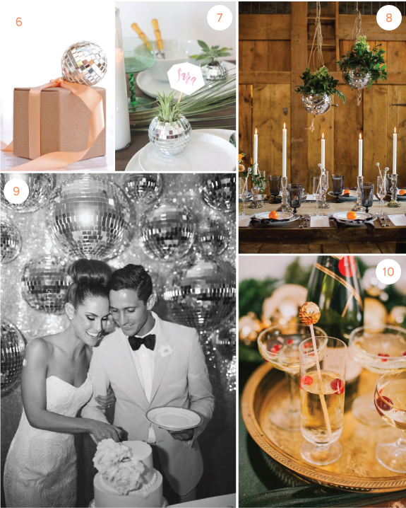 disco-ball-wedding-decor-2 | Julep