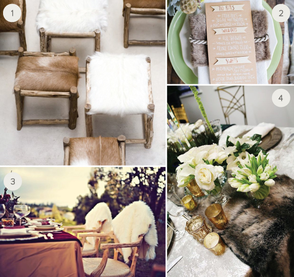 Fur Wedding Decor