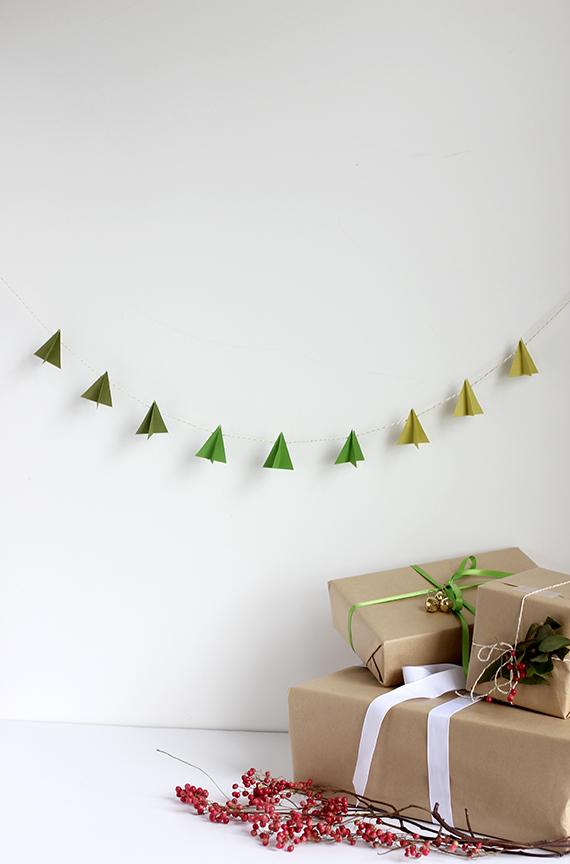 DIY Paper Christmas Tree Garland