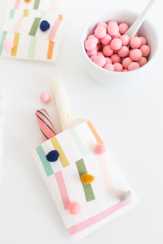 DIY patchwork favor bags