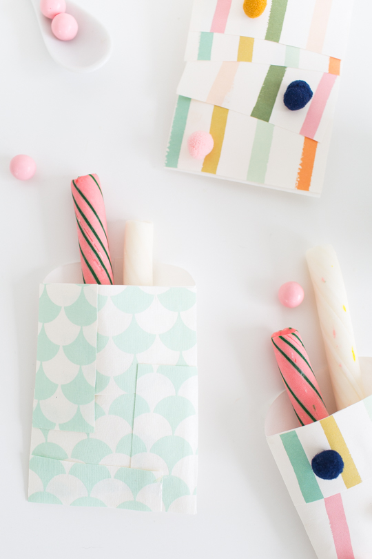 DIY patchwork favor bags