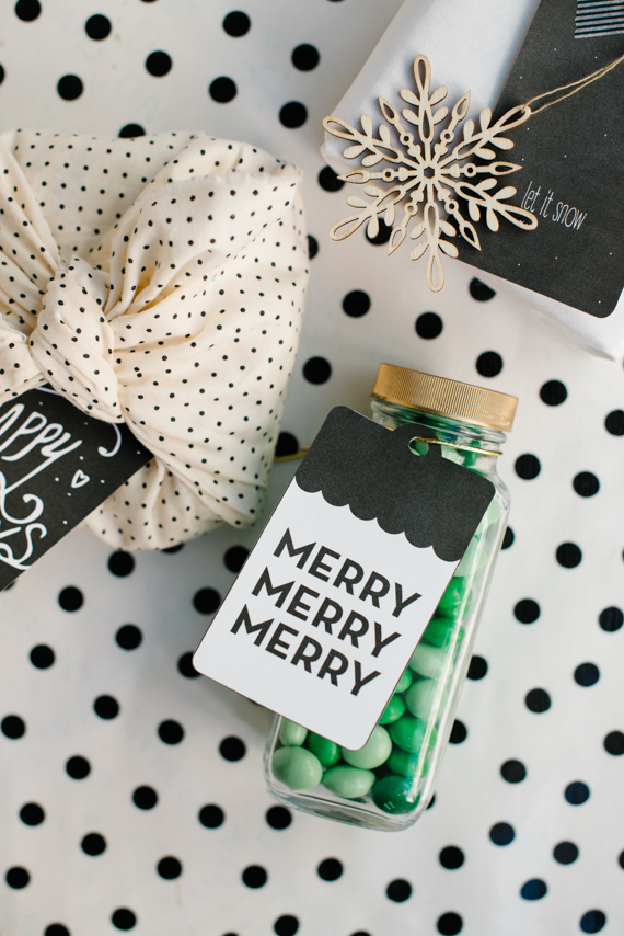 Pretty printable holiday tags
