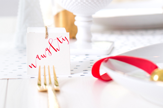 naughty or nice holiday table favor