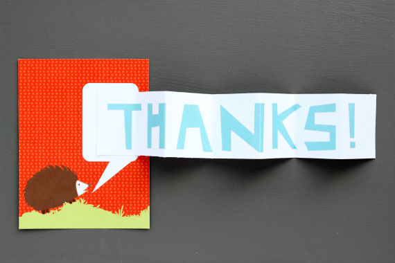 diy thank you card idea