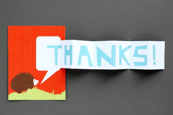 diy thank you card idea