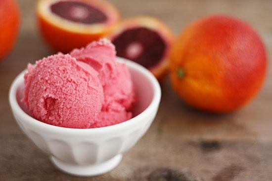 blood orange dessert ice cream sherbet recipe