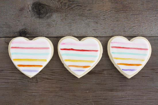 minted classroom valentines painted heart sugar cookies