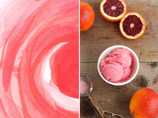 Blood-Orange Sherbet (recipe below) inspired by Swirls and Strokes by ...